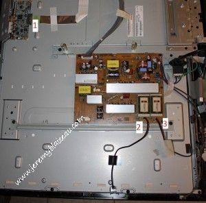 TV LG 42LH3000 : le composant a débrancher puis rebrancher