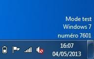 Mode Test Windows 7 Familiale