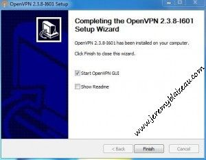 OpenVPN - Fin de l'installation