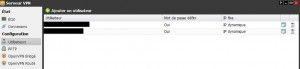 Serveur VPN, page principale FreeBox OS