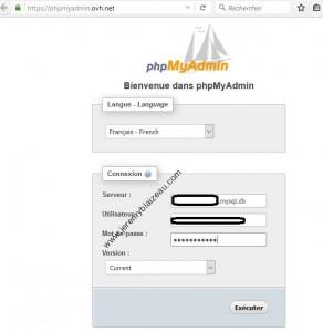 Login LockDown - 01 - Connexion PHPmyadmin