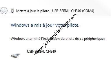 Installer driver pour puce CH340 (Arduino compatible) - par