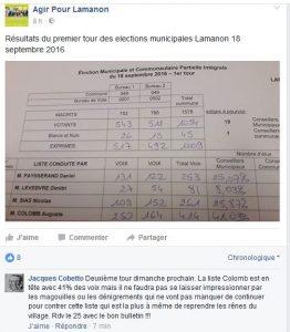 facebook agir pour lamanon