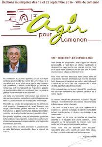 Agir pour Lamanon