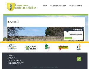 Site web Lamanon en 2015